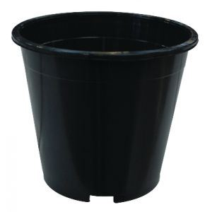 round black 7.5l pot