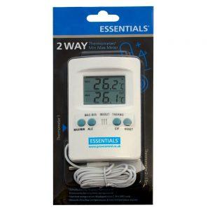 ESSENTIAL Digital 2 way thermometer/min max meter